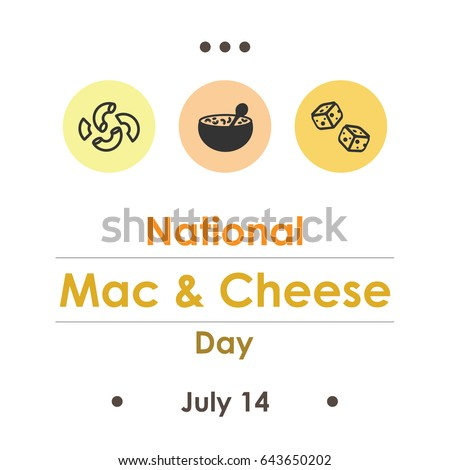vector illustration for National mac and cheese Day in July