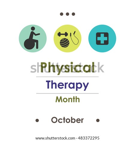 vector illustration for National Physical Therapy Month in october