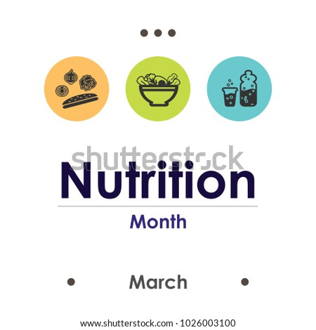 vector illustration for nutrition month in March