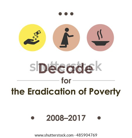 vector illustration for Second United Nations Decade for the Eradication of Poverty Сток-фото ©
