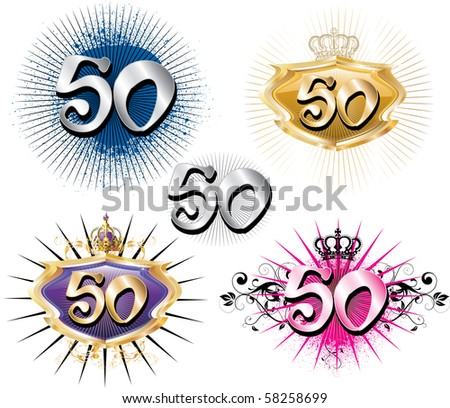 Vector Illustration for Special Birthdays Anniversaries and Occasions. Great for t-shirt or cards. - stock vector