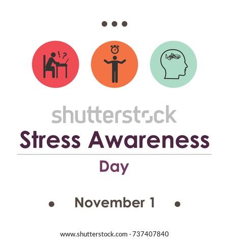 vector illustration for stress awareness day in November