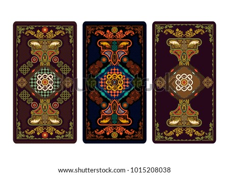 c68f1f212 Vector illustration for Tarot and playing cards. Template for invitations,  posters. Tarot cards