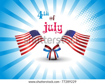 vector illustration for us independence day celebration
