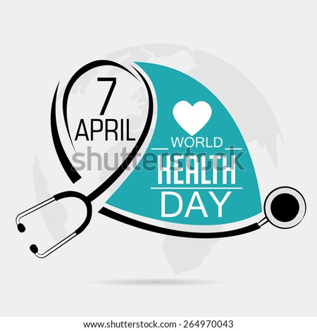 Vector illustration for World Health Day in gray background.