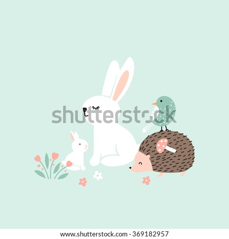 vector illustration  forest