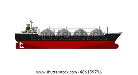 vector illustration gas tanker