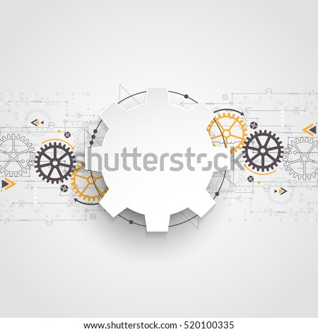 Vector illustration gear wheel, Hi-tech digital technology and engineering