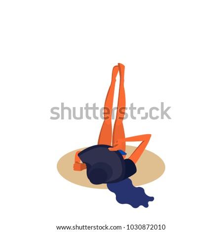 vector illustration girl in