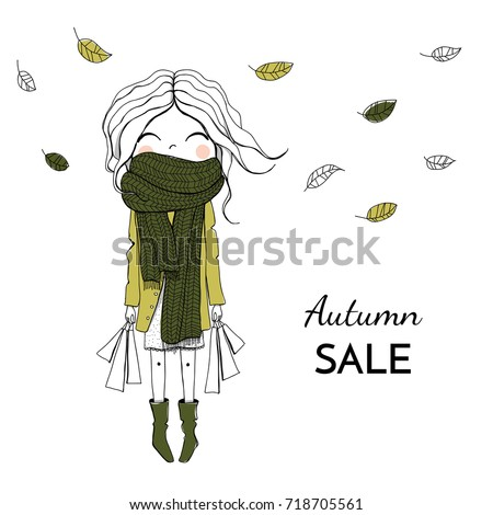 vector illustration girl with