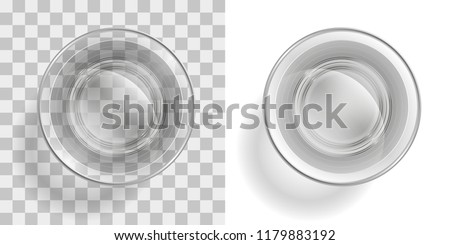 vector illustration glass of