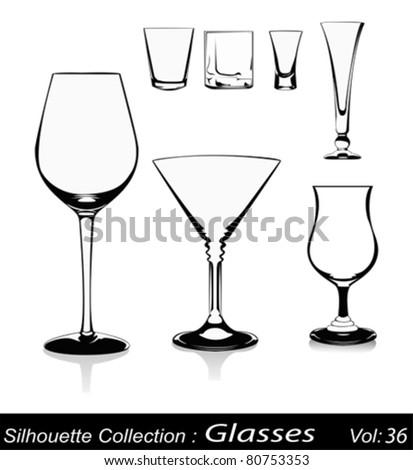 Vector illustration-glasses on white background