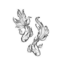 Vector illustration - Gold fish