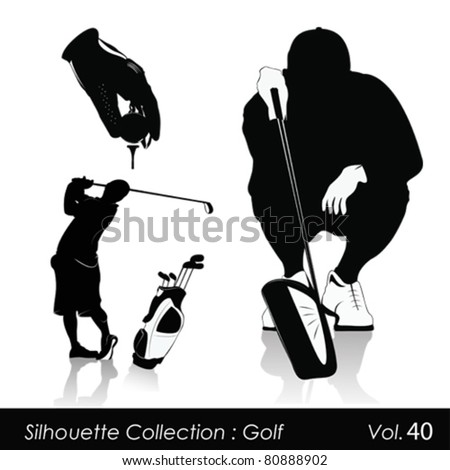 Vector illustration.Golf and golfers
