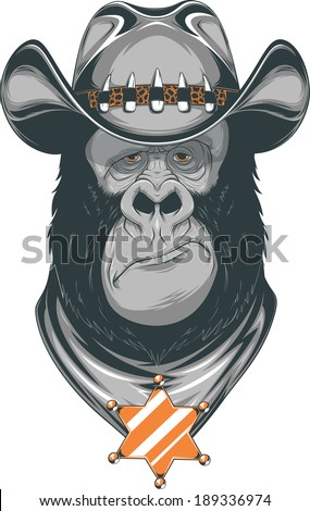 vector illustration  gorilla in
