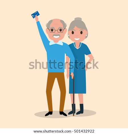vector illustration grandfather