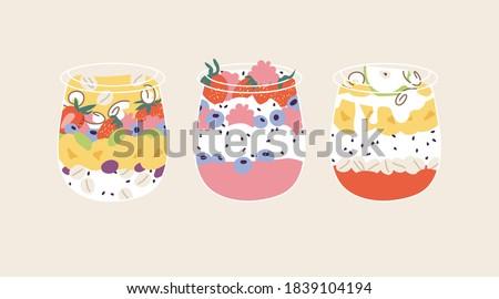 vector illustration granola