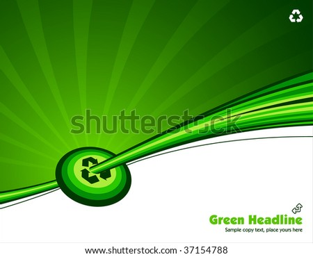 vector illustration green environmental recycle background read for you text