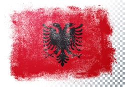 Vector Illustration Grunge And Distressed Flag Of Albania