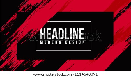 vector illustration. grunge hipster background with paint splits. stylish frame red color of the brush. the drawn strips are a rectangular format. design graphics for invitation booklets, screen saver