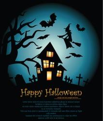 Vector illustration Halloween background