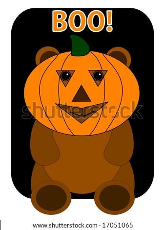 Vector Illustration - Halloween Teddy