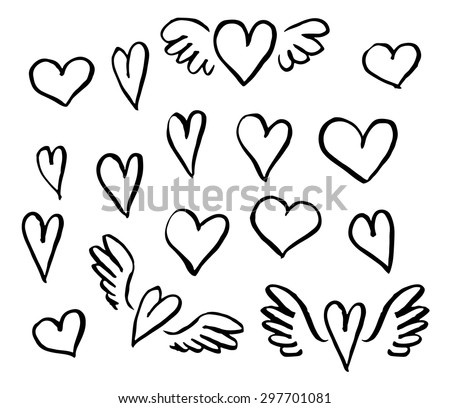 stock-vector-vector-illustration-hand-drawn-hearts-set-of-design-elements
