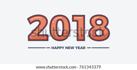 vector illustration happy new year 2018 theme ez canvas
