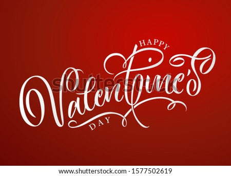 Vector illustration. Happy Valentines Day typography vector design for greeting cards and poster. Design template celebration.