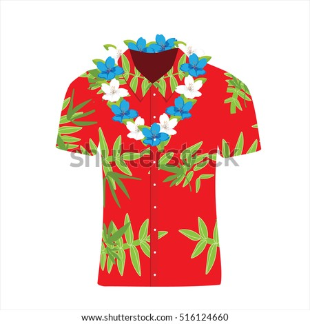 vector illustration hawaiian