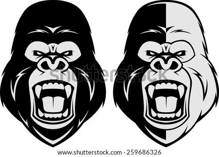 vector illustration  head evil