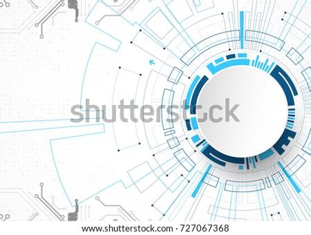 vector illustration  hi tech...