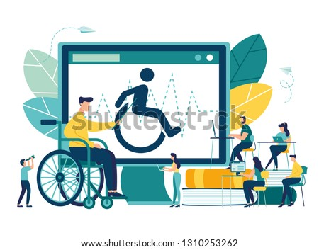 Vector illustration, hospitalization of the patient, a sick person sitting on a chair and measuring his rhythm, doctors treat the patient, routine examination, medical examination - Vector - Vector