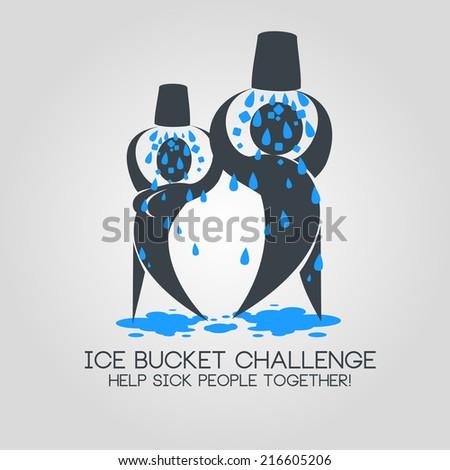 vector illustration ice bucket