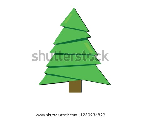 Vector illustration - icon of christmas tree (pine). Parks and nature. #1230936829