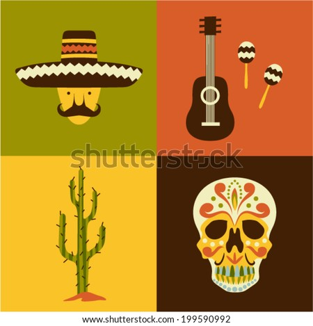 vector illustration icon set of