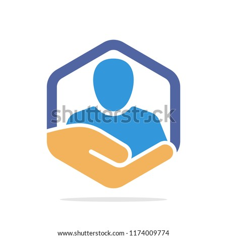 Vector illustration icon with individual insurance management concept