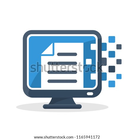vector illustration icon with the concept of digital communication technology, about online document management media