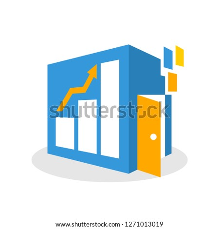 Vector illustration icon with the concept of online media space to find a way out, a solution that has the opportunity to increase business
