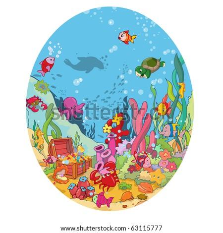 vector illustration, image of wildlife in the ocean, cartoon concept.