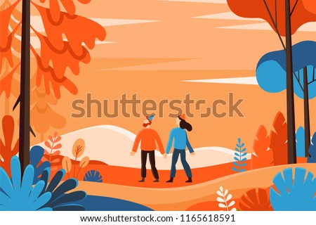 vector illustration in flat