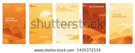 vector illustration in trendy
