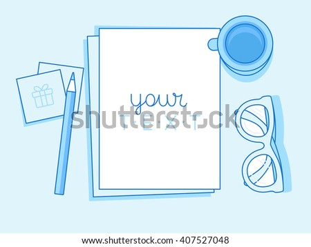 vector illustration in trendy