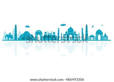 vector illustration india