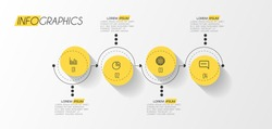 vector illustration Infographic design template with icons and 4 options or steps. Can be used for process, presentations, layout, banner,info graph.