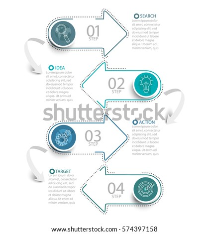 Vector illustration infographic template with 3D circles paper label, business template for presentation. Creative concept for infographic, diagram, flowchart, workflow layout, content, steps, chart.