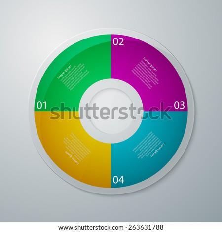 Vector illustration infographics circle with four quadrants Stock photo ©