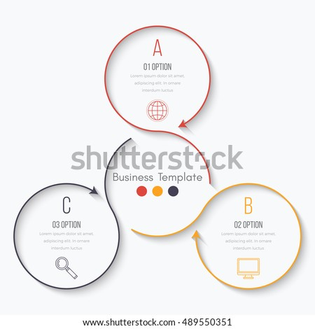 Vector illustration infographics 3 options