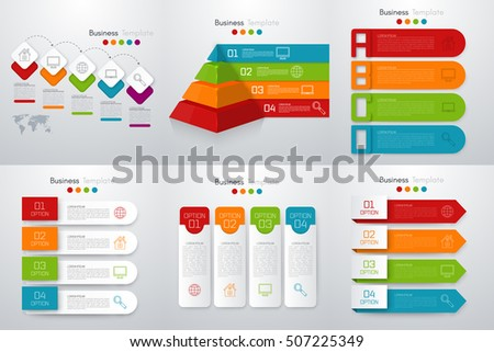 Vector illustration infographics set