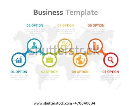 Vector illustration infographics. Template for brochure, business, web design #478840804